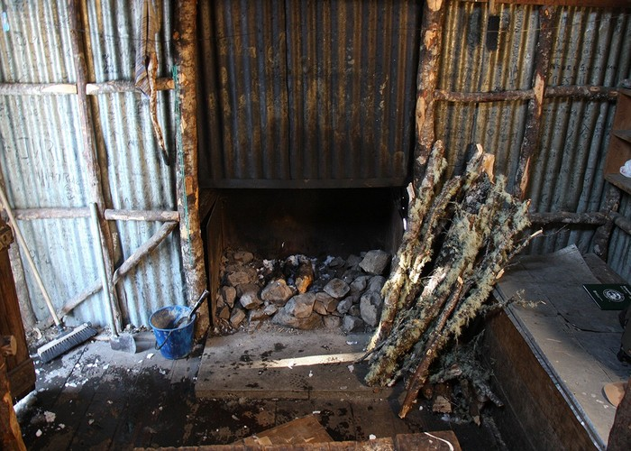 Bealey Spur Hut - Fireplace