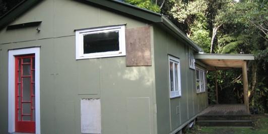 Jans hut, back view