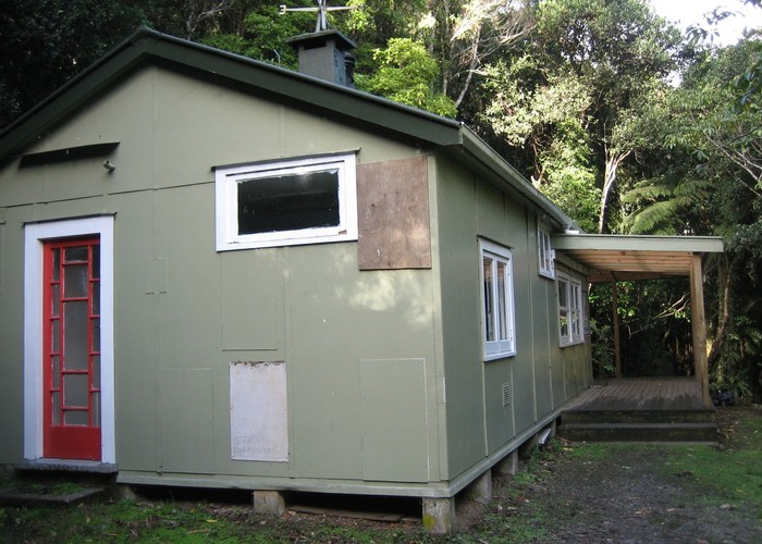 Jans hut, back view