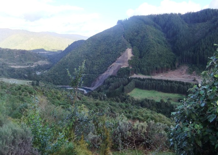 Progress at Blue Bluff Slip Otaki Gorge