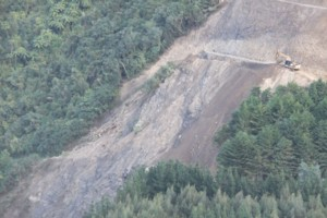 Progress at Blue Bluff slip Otaki Gorge (3)
