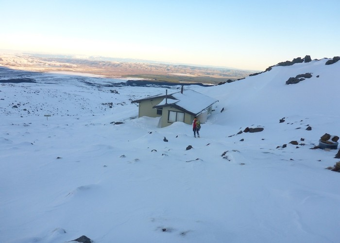 Rangipo Hut in winter