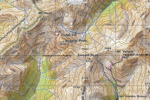 Routes to Trudge Col, Mt Valiant