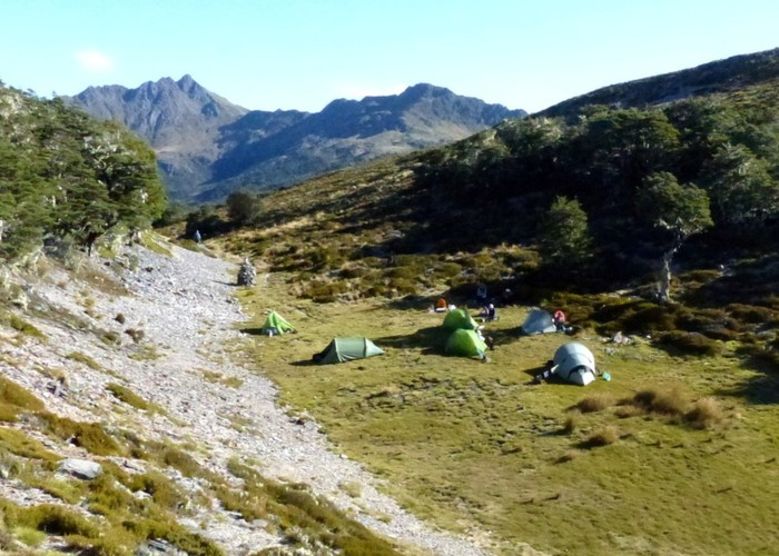 campsite on the Lockett Range