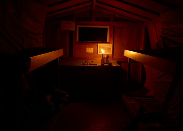 Piggotts Hut at night
