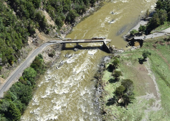 Cobb Valley Bridge Destroyed by Cyclone