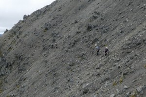 Scree traverse