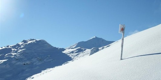 Scott's Track in snow