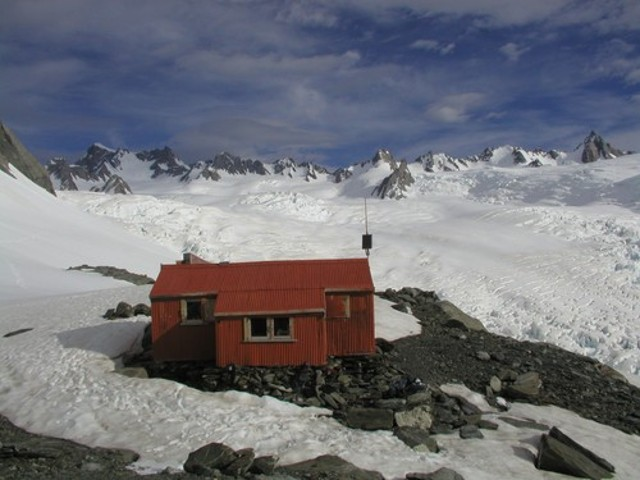 Alma Hut on Franz Josef glacier