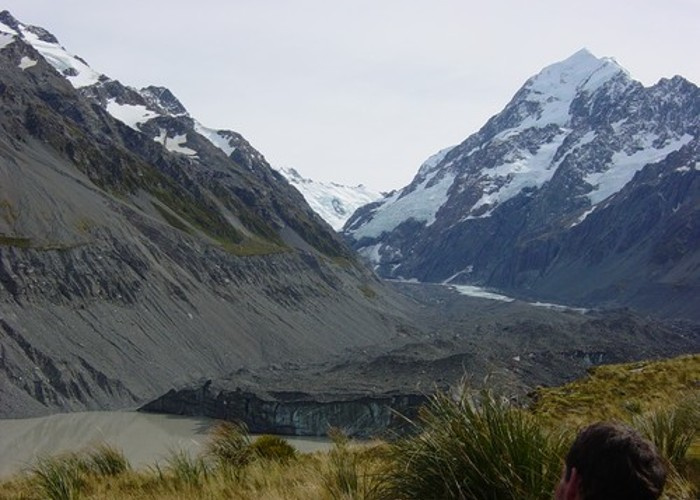 Terminal end of the Hooker Glacier