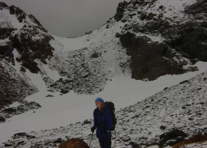Bleak weather as we prepare for Fiery Col - Five Passes walk