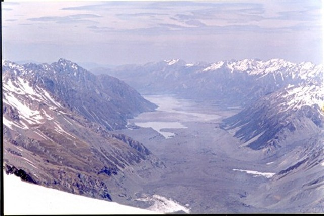 View of the Tasman Glacier from Graham Saddle