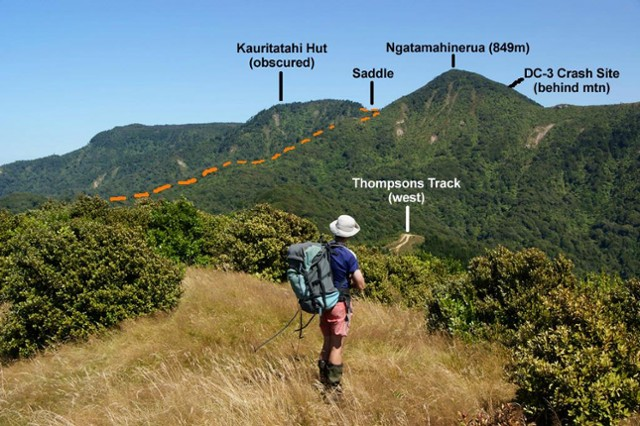 View over Thompsons Track from Main Range to Ngatamahinerua