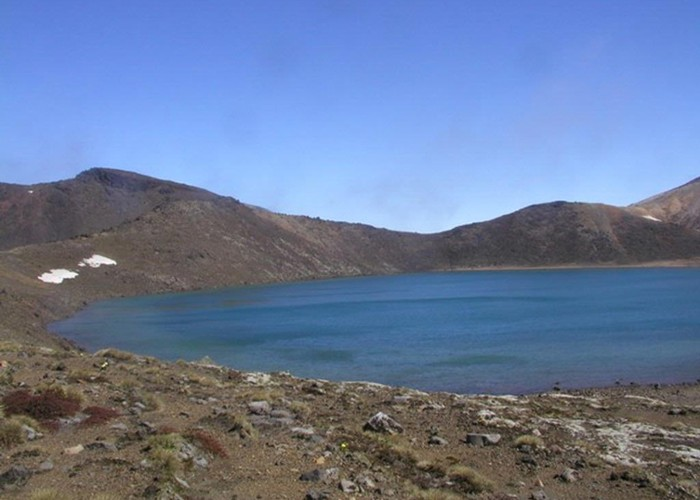 Blue Lake on Tongariro