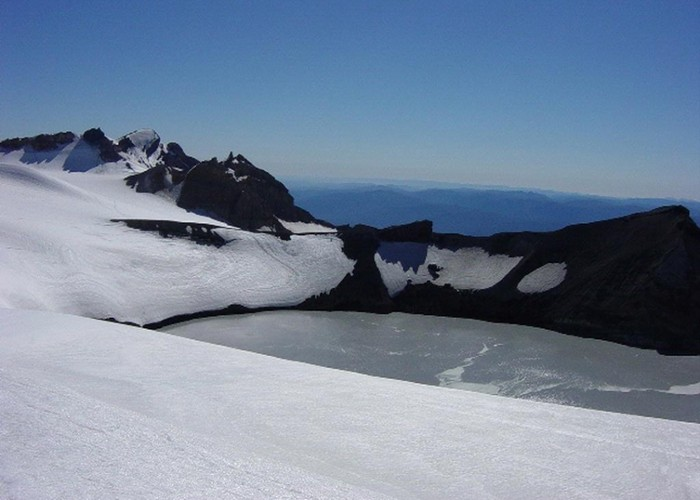 Private swimming baths on Ruapehu