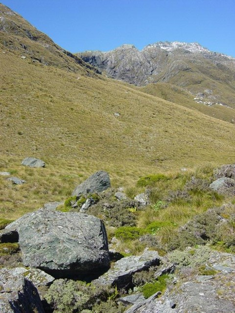 The view from the bivvy on the Olivine ledge