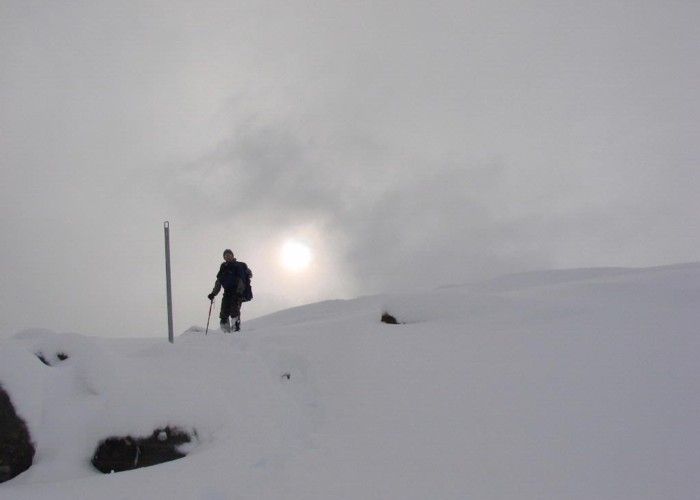 Returning to Turoa from Ruapehu's crater rim