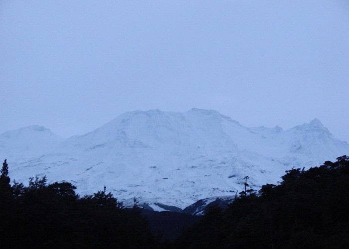 Western approach to Ruapehu at dawn