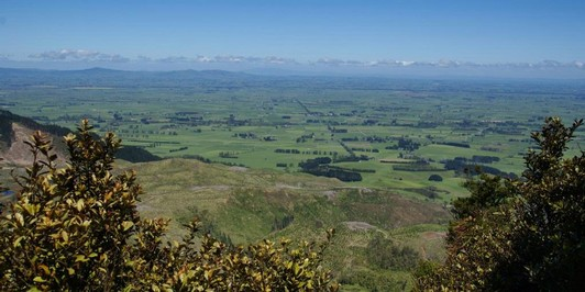 Views over the plains from Te Rereatukahia Loop Track
