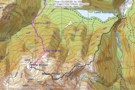 route from Kaurapataka Saddle to Pfeifer Biv via summit