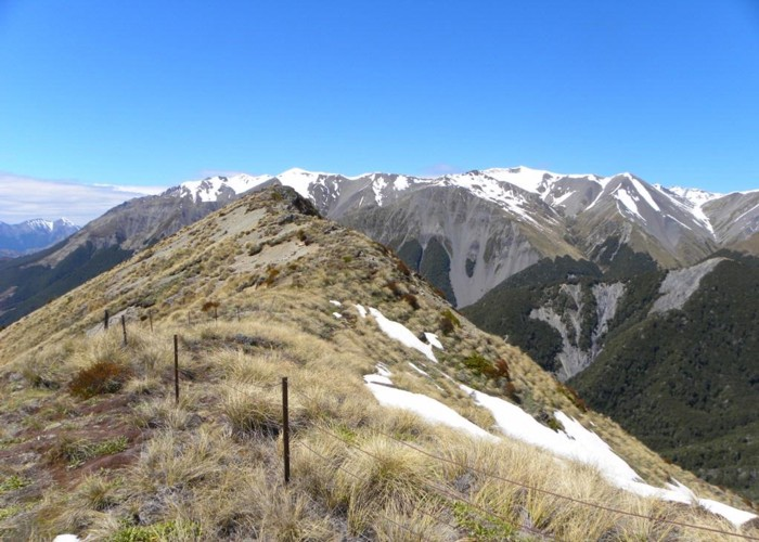 Looking east from Mt.Bruce at the Craigieburn range behind