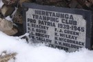 Memorial at the top of Kaweka J
