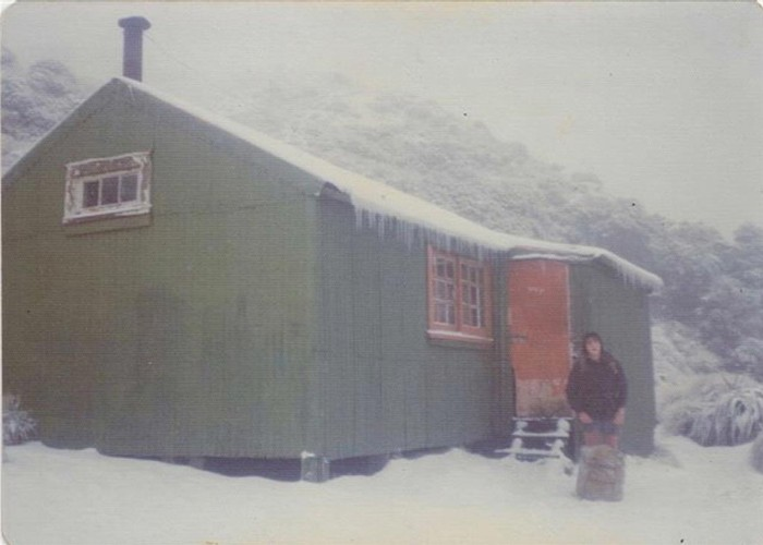 Old Powell hut winter