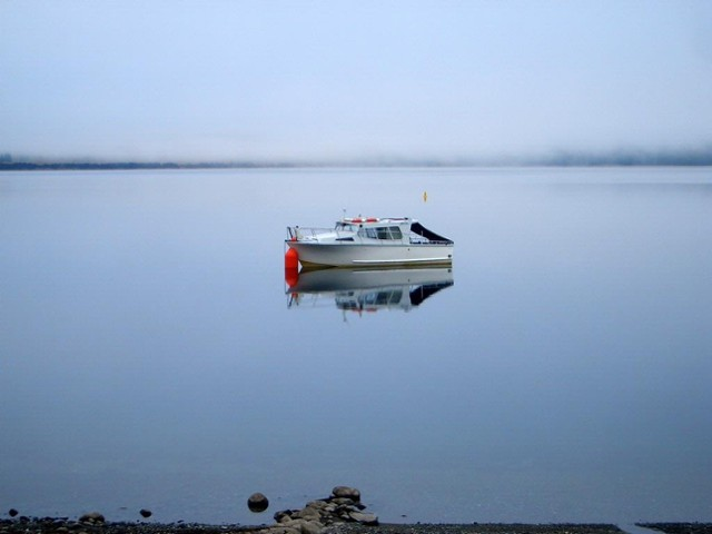 Misty Morning Reflections at Lake Te Anau