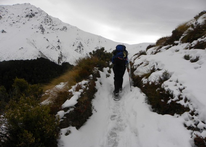 Ascending Ben Lommond in winter