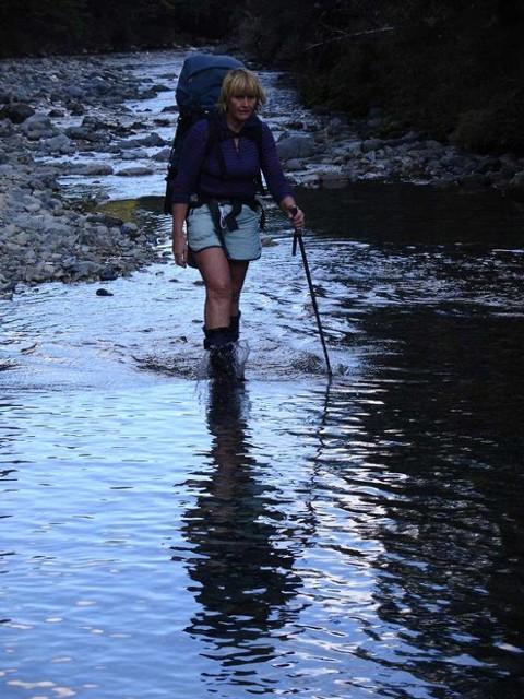 Reflections of Sue in the Waipakihi River