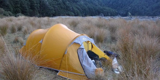 Trying out my new Olympus Tent in the Waipakihi River