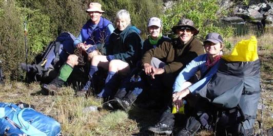 Happy Trampers in the Waipakihi