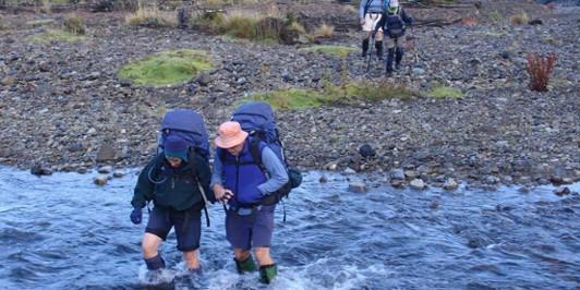 Crossing the Waikato River