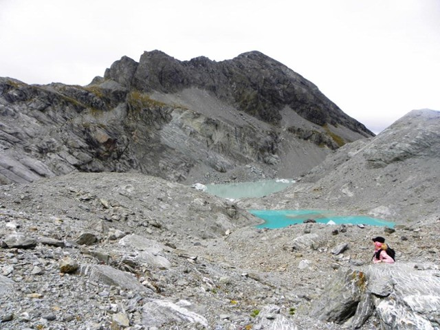 Terminal lakes of Park Pass glacier