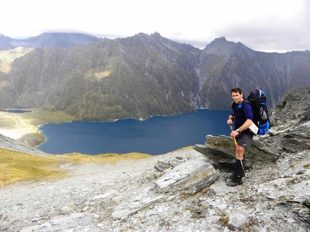 Standing above Lochnagar (Goat Lake) - Mt.Aspiring NP