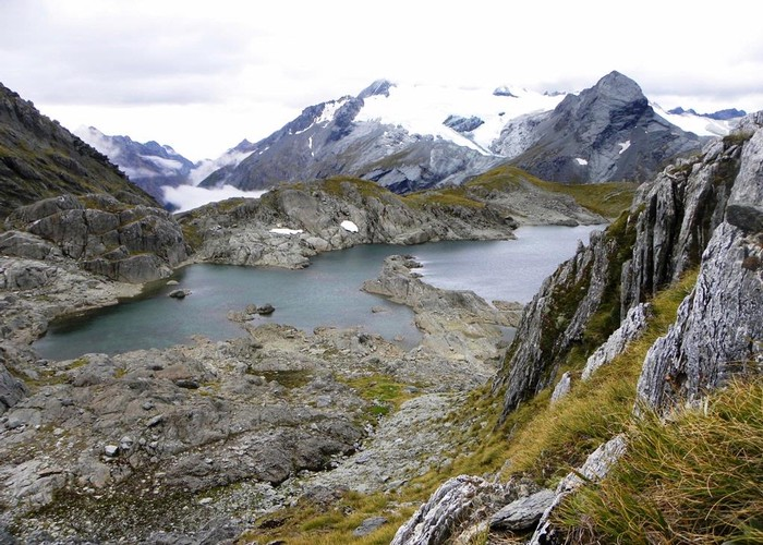 Lakelet in the Humboldt Mountains - Mt.Aspiring NP  NZ.