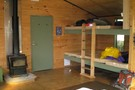 Fireplace and Bunks
