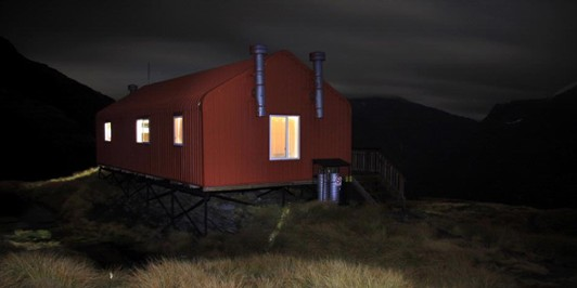 French Ridge Hut at night