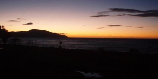 Ngapotiki Hut Sunrise