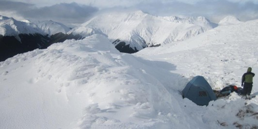 Tops Campsite - winter 2010