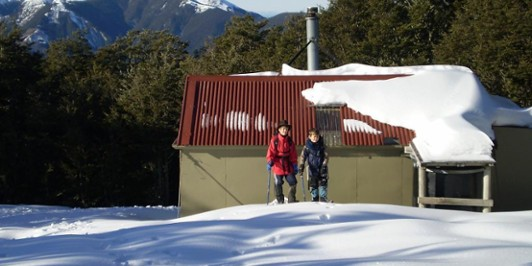 Black Hill hut in Winter