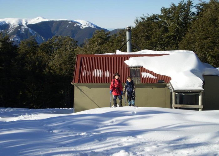 Black Hill hut in Winter