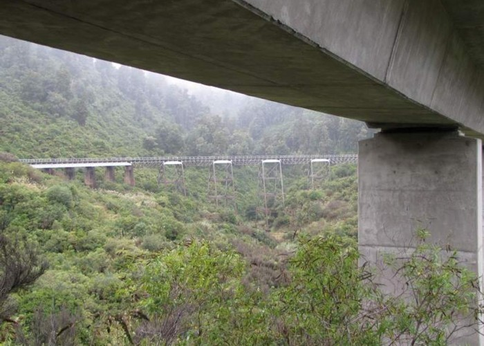 The old and the new Hapuawhenua Viaducts