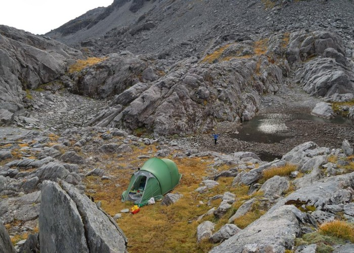 Camp on Lathrop Saddle
