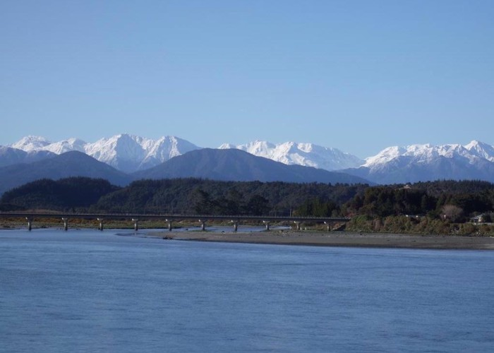 Mountains from Hokitika River  Sept 2010