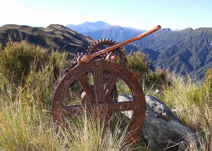 Relic from Griffin Range Serpentine Mine  May 2010