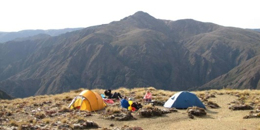 Tops camping in the Kaimanawas