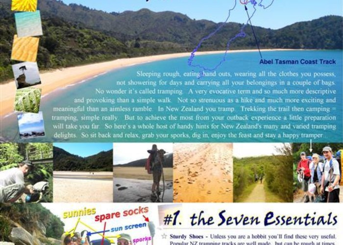 TOP TEN TRAMPING TIPS - Abel Tasman Coast Track - PAGE 1