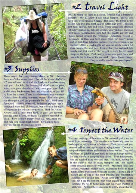 TOP TEN TRAMPING TIPS - Abel Tasman Coast Track - PAGE 2
