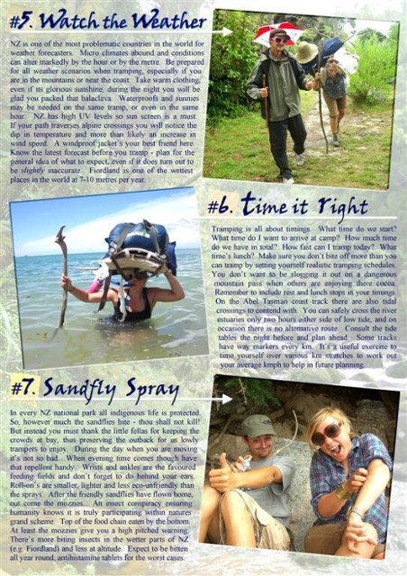 TOP TEN TRAMPING TIPS - Abel Tasman Coast Track - PAGE 3